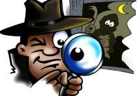 detektivisches gesp¨r bei mobiler schatzsuche mit Motto Dieb benötigt
